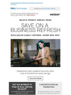 Dell - Black Friday sneak peek for business | Top tech to stay connected