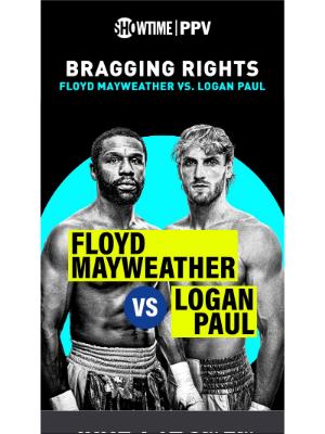 Showtime Networks - Live tomorrow: Mayweather vs. Logan Paul 🥊