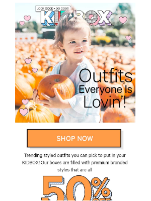 ❤️ Outfits Styled For Your Child - 50% OFF!