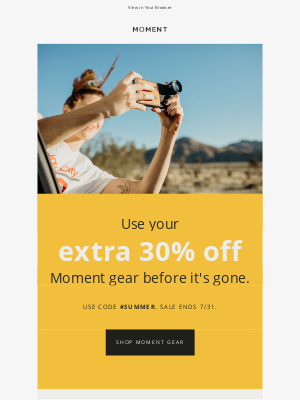 Moment, Inc. - Summer Sale is On