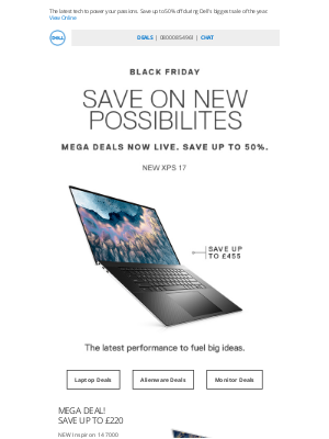 Dell UK - Thursday Mega Deals are live! Big savings on the NEW Inspiron 7000.