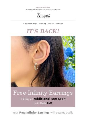 IT'S BACK! Free Infinity Earrings* 👋