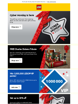 LEGO - LEGO® Cyber Monday is here!