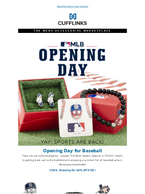 CuffLinks - MLB Opening Day is TODAY