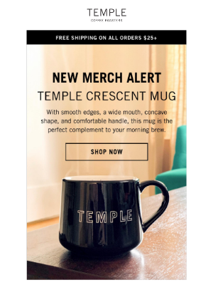 Temple Coffee Roasters - Just In! Your NEW Favorite Mug ☕️