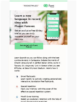 Rocketmiles - Talk like a local with exclusive access to Fluent Forever