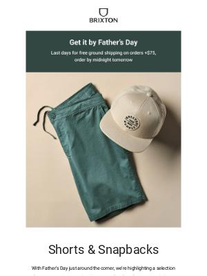 Brixton LLC - Snapbacks & shorts for him
