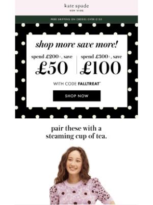 Kate Spade (UK) - save up to £100 on sweaters, sweatshirts...