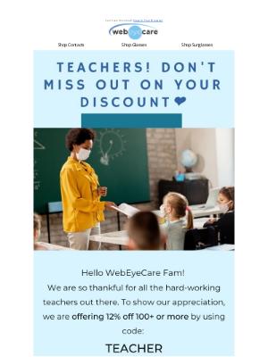WebEyeCare - Reminder Teachers!