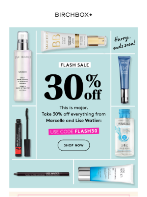 30% Off Everything(!) from Marcelle & Lise Watier