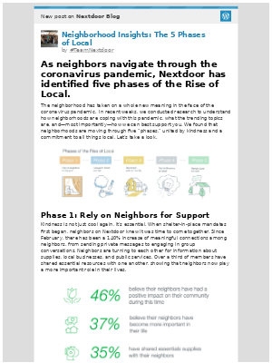 Nextdoor - [New post] Neighborhood Insights: The 5 Phases of Local