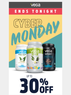 Vega - Ends Tonight—30% off sitewide