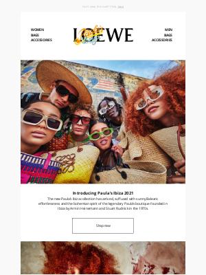 Loewe - Shop now   LOEWE Paula's Ibiza 2021