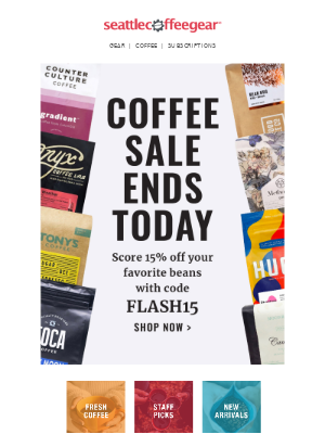 Last Chance for Coffee Savings! ☕