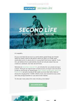 Decathlon (UK) - Introducing: Second Life 🌱