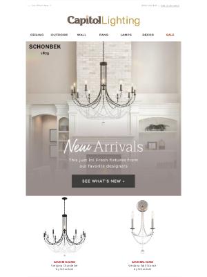 Capitol Lighting's 1800lighting - New Arrivals + 20% OFF Schonbek! ⤵