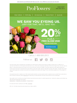 ProFlowers - Looking for the perfect gift? EXTRA 20% Off inside!