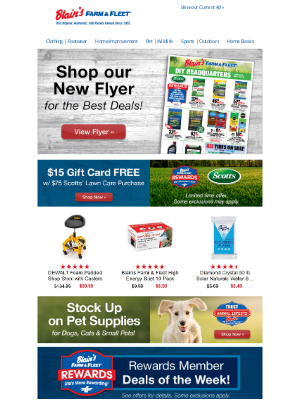 Blain's Farm and Fleet - Shop our New Flyer + Rewards Member Deals of the Week!