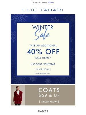 Elie Tahari - Winter Sale - Extra 40% Off