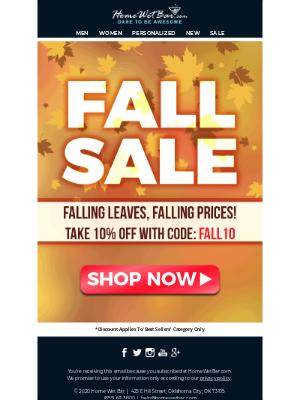 HomeWetBar - Fall Sale Starts NOW!