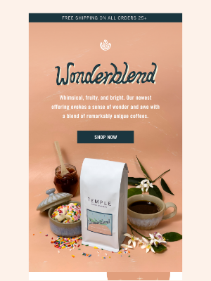 Temple Coffee Roasters - Introducing ✨WONDERBLEND✨