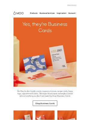 MOO - Is this an email about Business Cards? 🤔