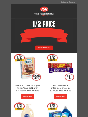 IGA (Independent Grocers Alliance) - Hi Janet, check out this week's 1/2 Price Specials