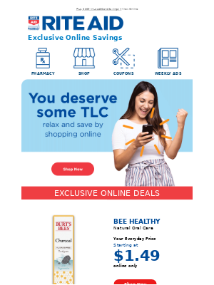 You Deserve Some TLC- Relax & Shop Online!