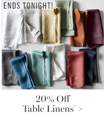 20% Off Kitchen Linens*