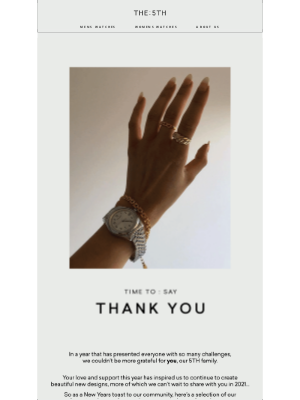 The 5TH - TIME TO: SAY THANK YOU