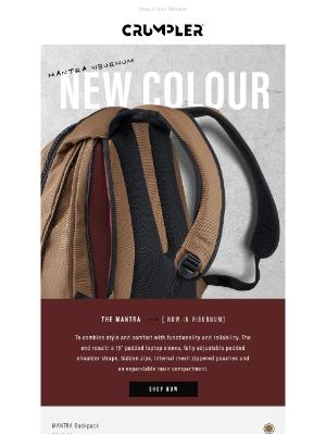 Crumpler - New Colour Drop | Mantra Backpack in Viburnum