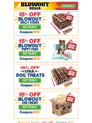 ValuePetSupplies - Blowout Deals - 15% Off