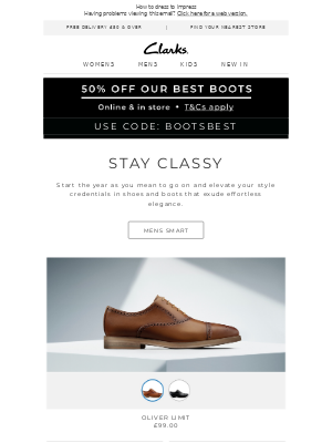 Step up your style in our smart selection