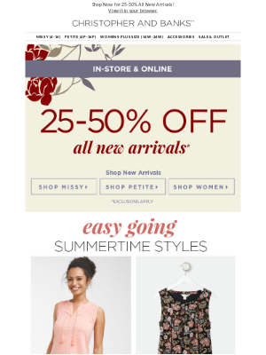 Summer's BEST Styles on Sale Now!