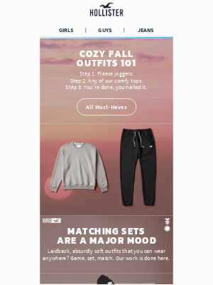 Hollister Co. - Styling joggers: a how-to guide.