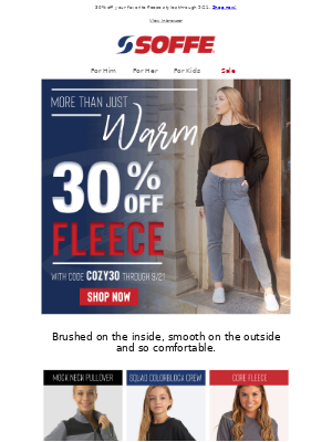 Soffe LLC. - Fleece We're Loving
