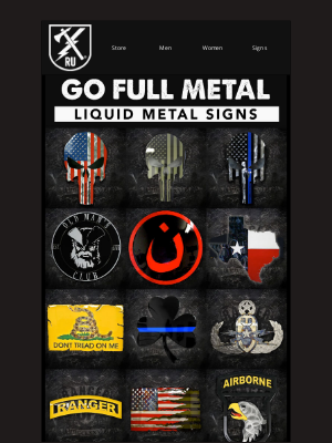 Ranger Up Military and MMA Apparel - Go Full Metal.