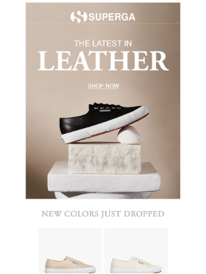 Superga - New leather colors are here
