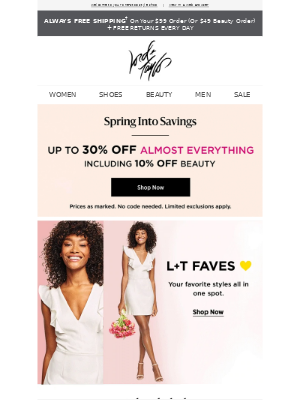 Score spring faves up to 30% off