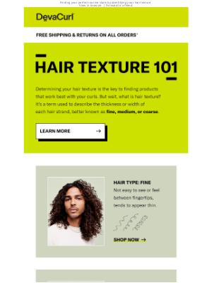 DevaCurl - Hair Texture 101