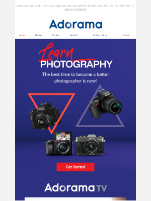 Adorama - 👏 📸 This Is The Year To Amp Up Your Photography Skills!