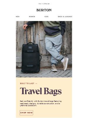 Burton Travel Bags: Built to Last