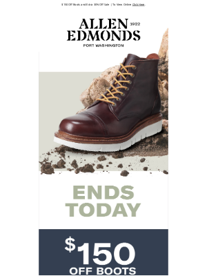 Allen Edmonds - WOW! Sales End Today