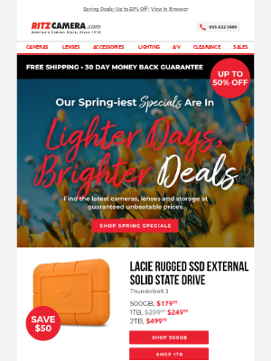 Spring clean your camera gear with these specials 🌷