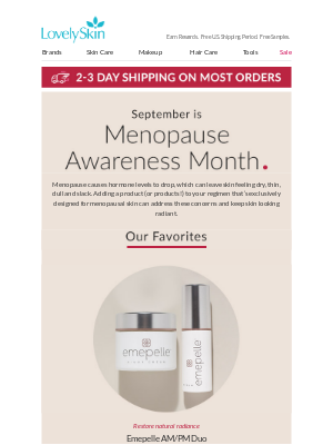 LovelySkin - Did you know that September is Menopause Awareness Month?