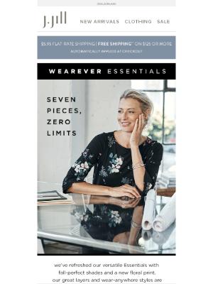 J. Jill - Wearever Essentials, refreshed.