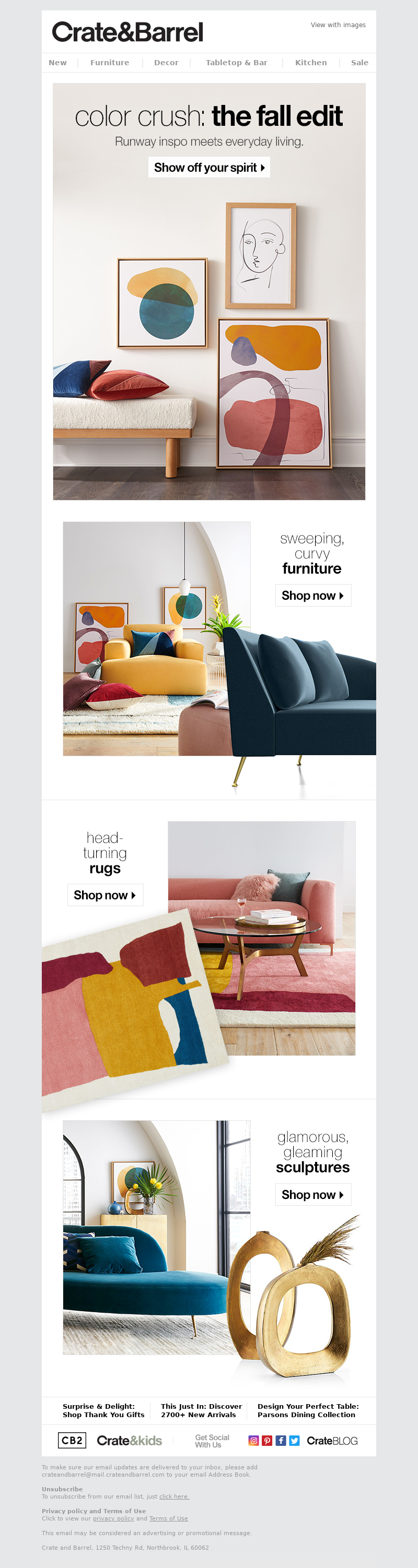 Crate and Barrel - The Fall Edit: GO BOLD.