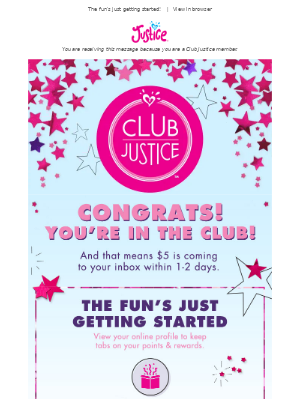 Justice - Congrats! You're in the Club!