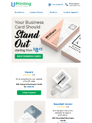 UPrinting - Business Cards Starting From $8.45