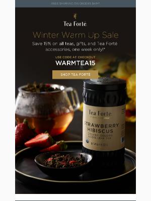 Tea Forté - Winter Warmup Sale ❄️